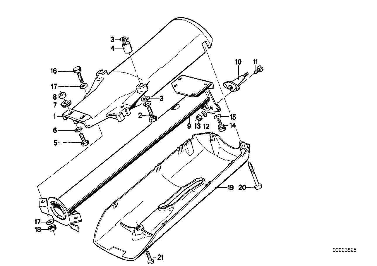 Steering column-tube/trim panel