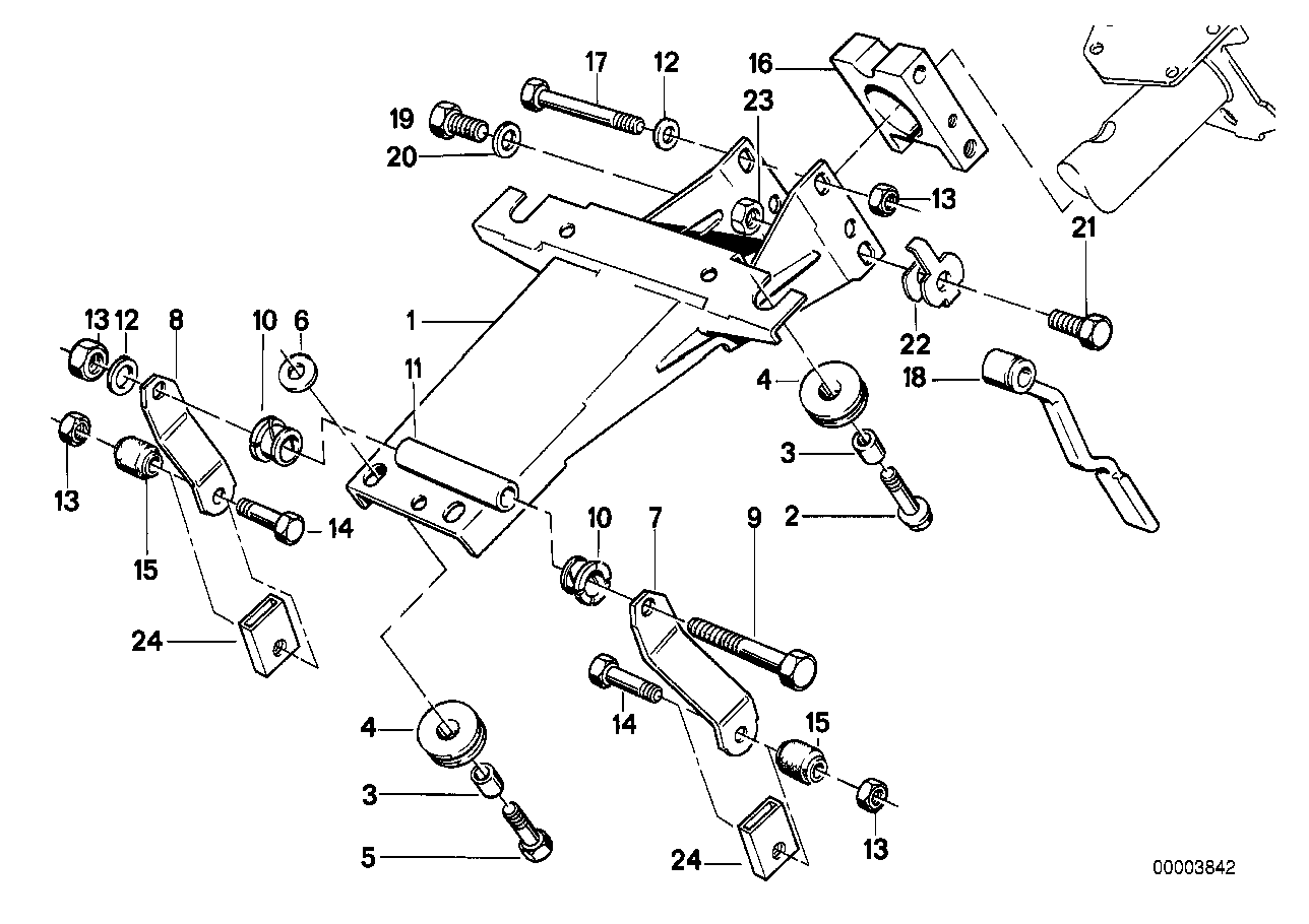Steering column-adjustable/single parts