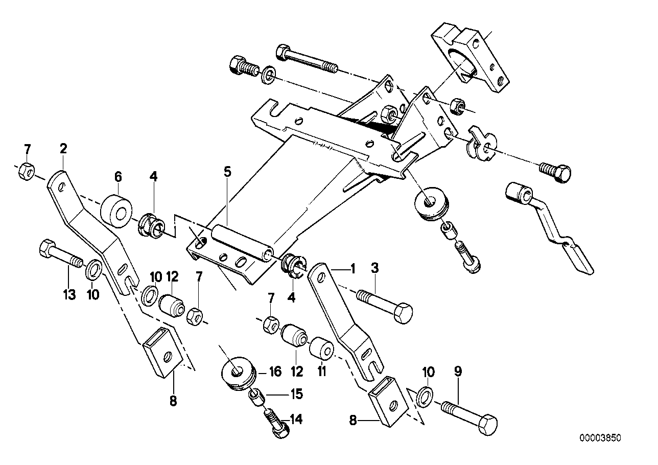 Steering column-bearing sup./single part