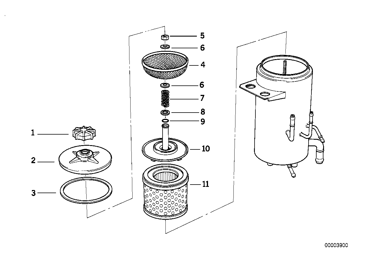 Oil carrier ASC+T/single parts