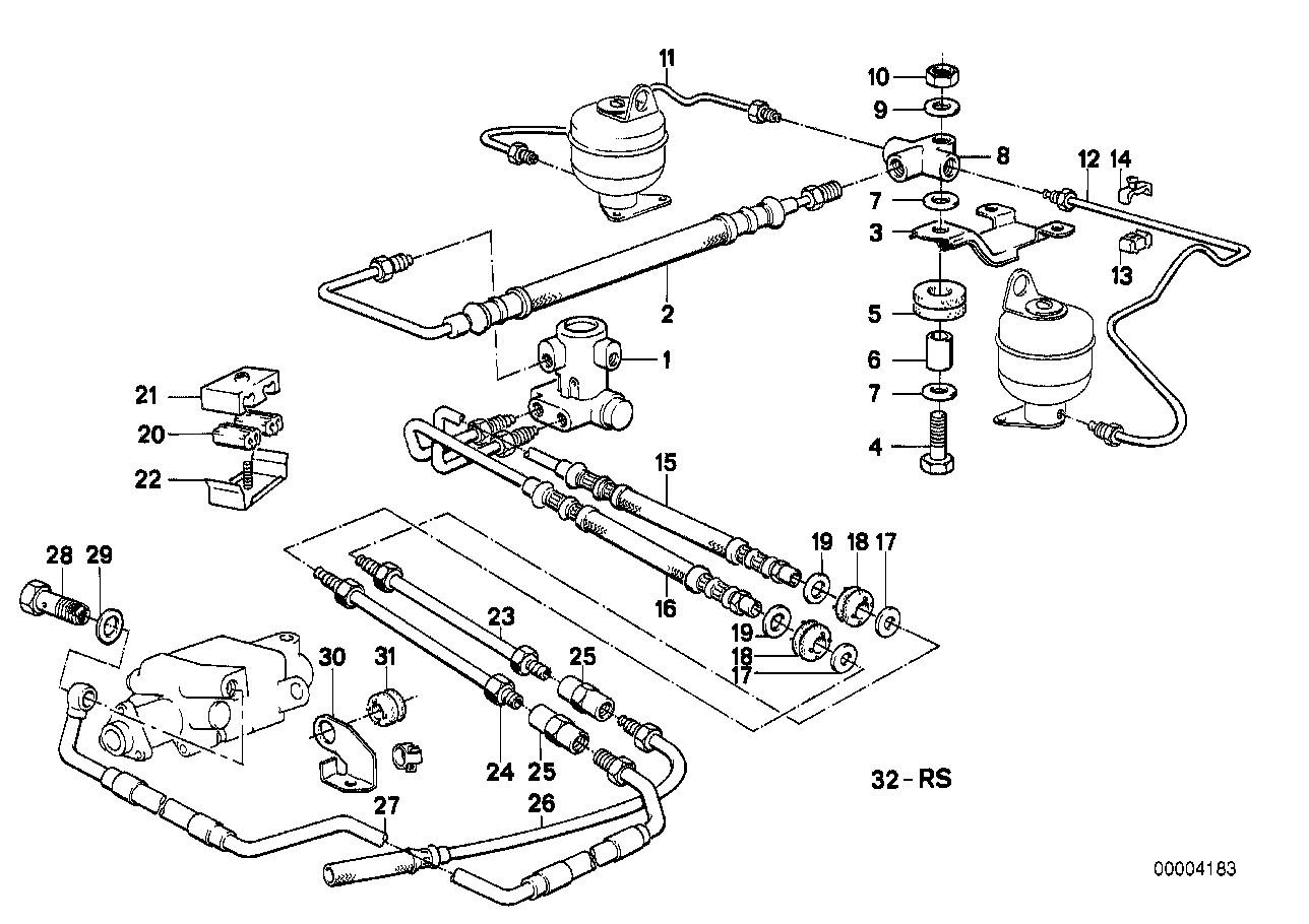 Levelling device/tubing/attaching parts