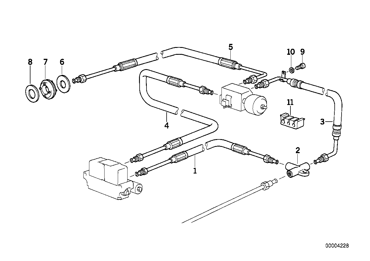 AHK/tubing rear/attaching parts