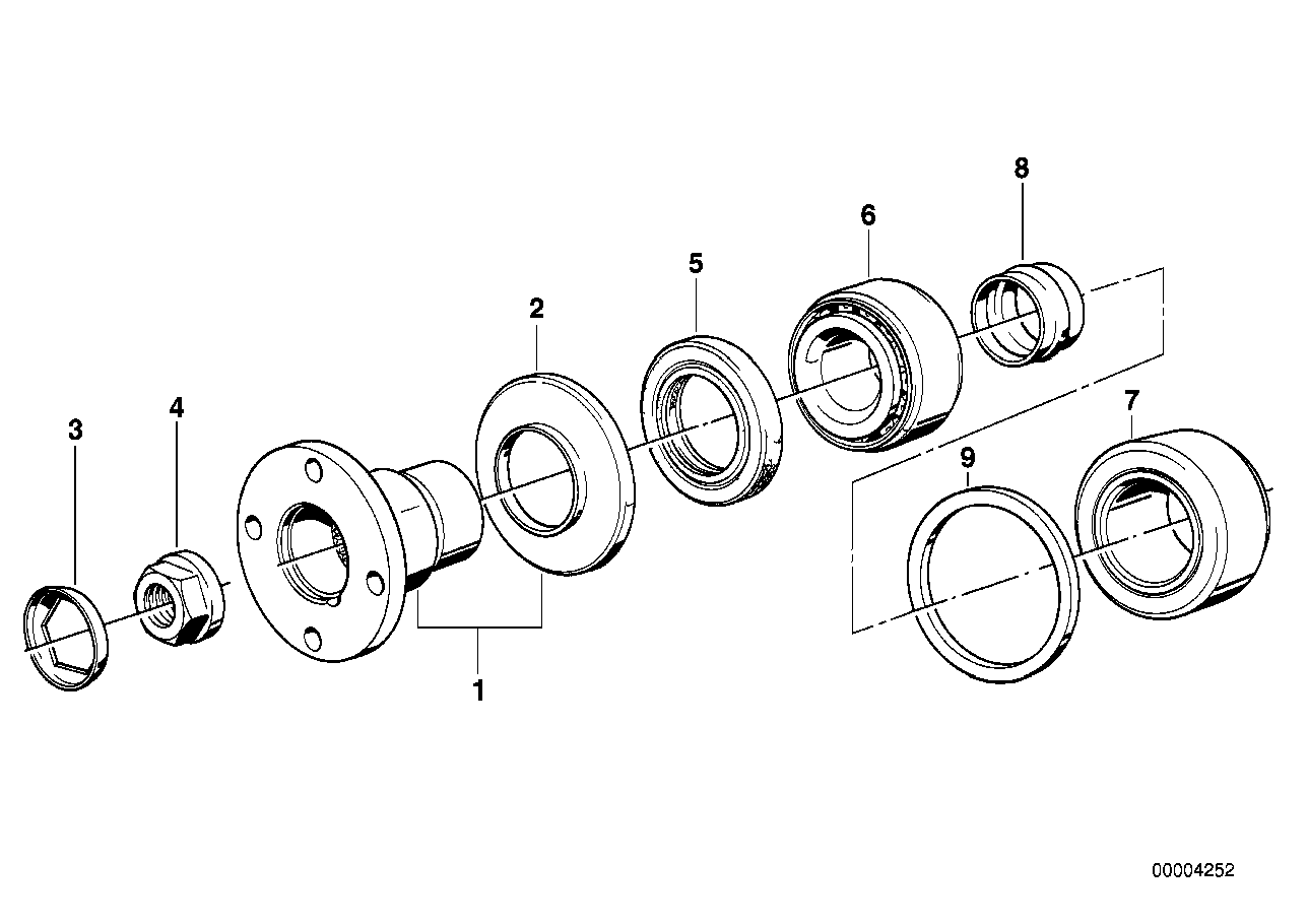 Drive flange suspension/gasket ring