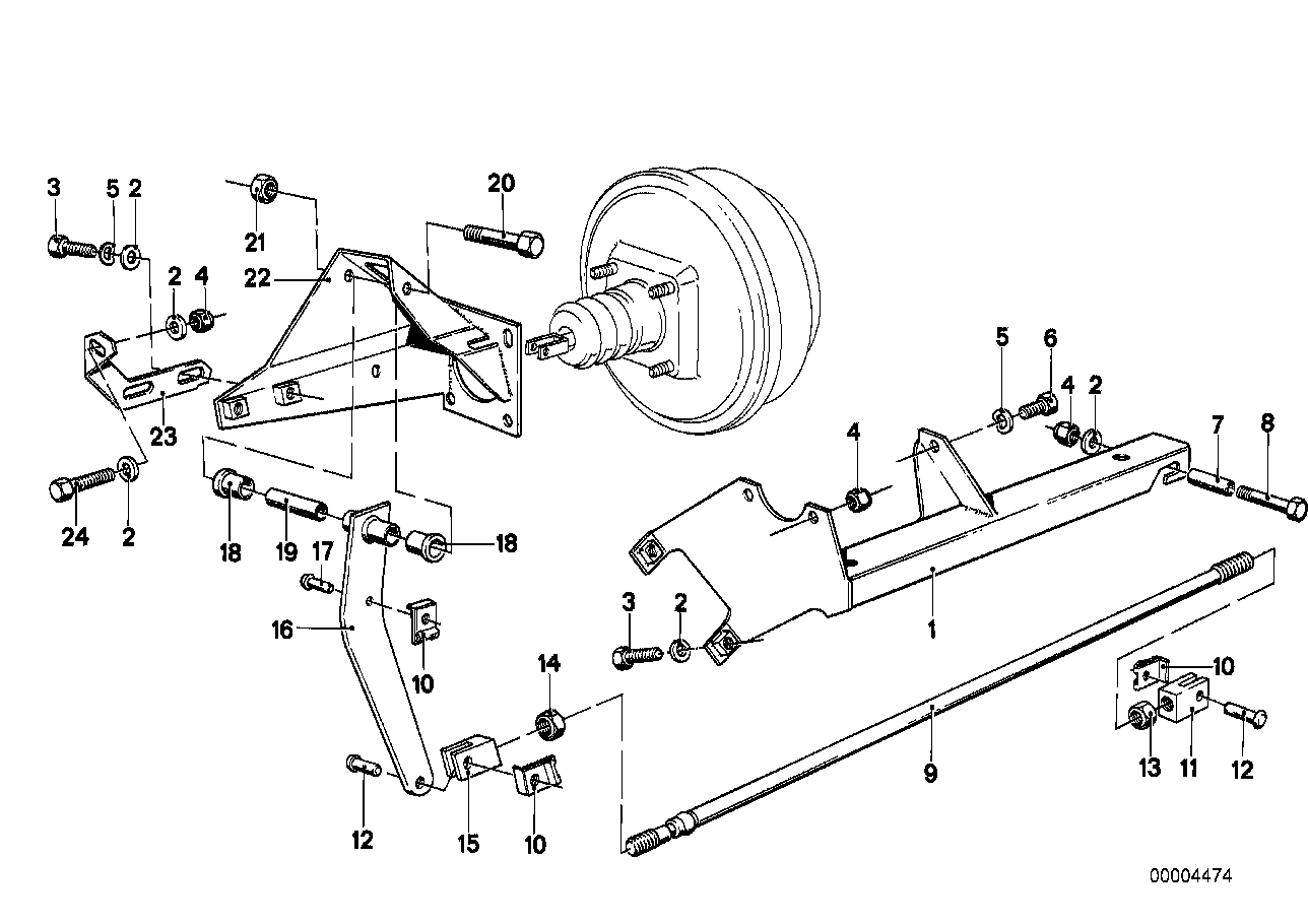 Brake servo unit/Mounting