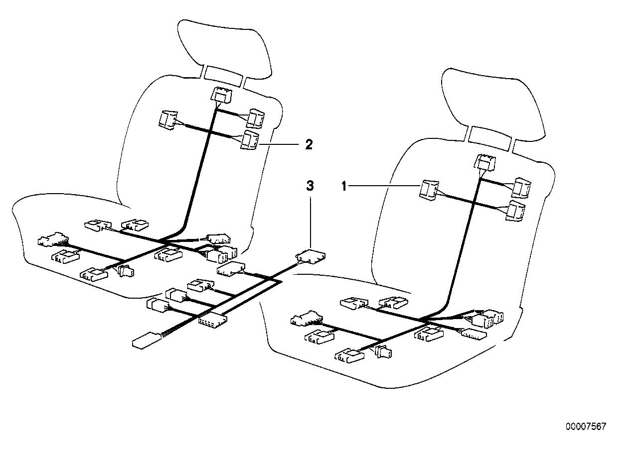 Vehicle electrical system BMW E36 sedan 47441