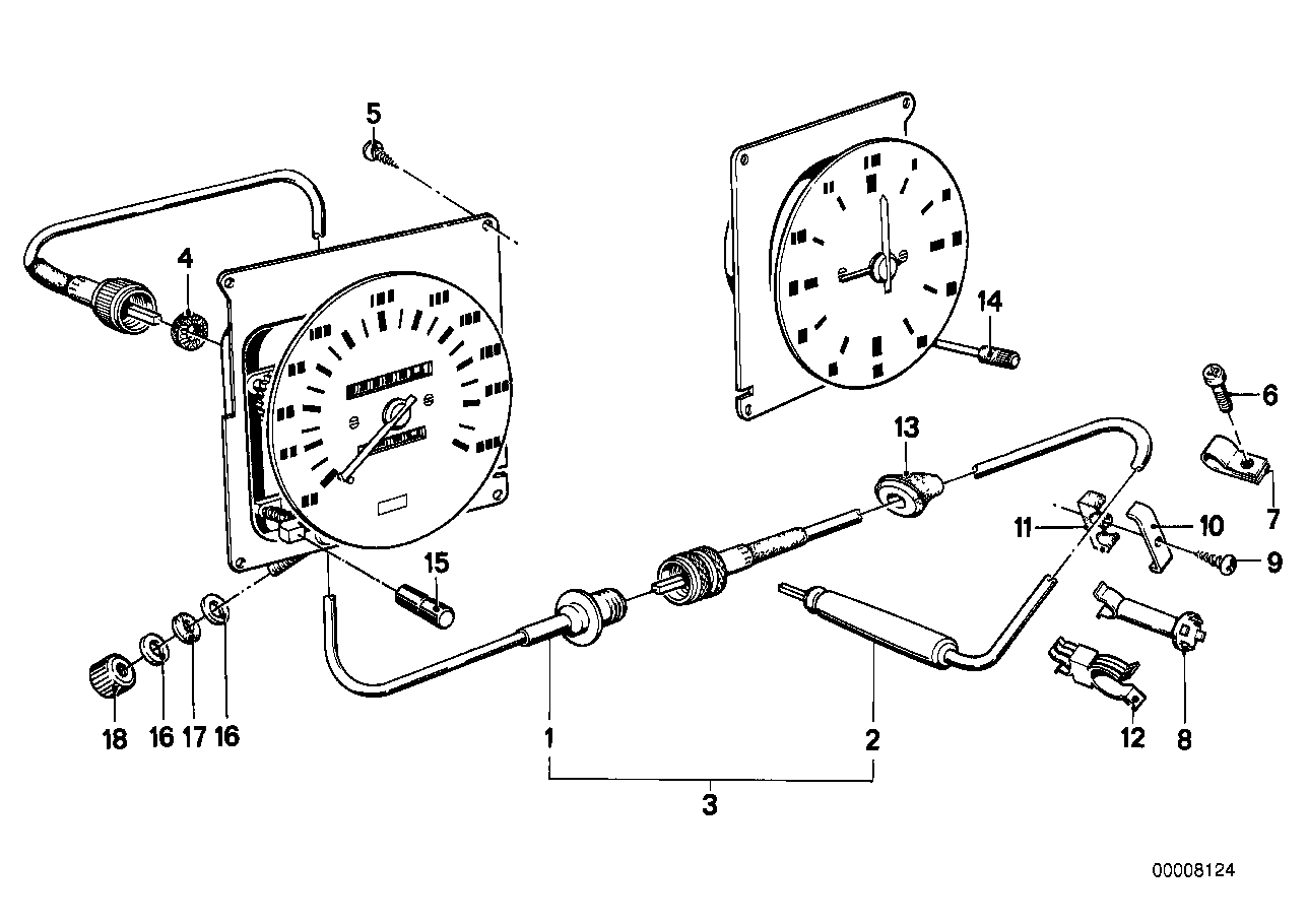 Speedo cable attaching parts