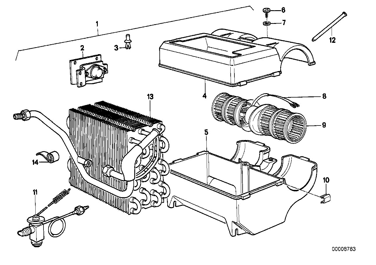 Air conditioning unit parts