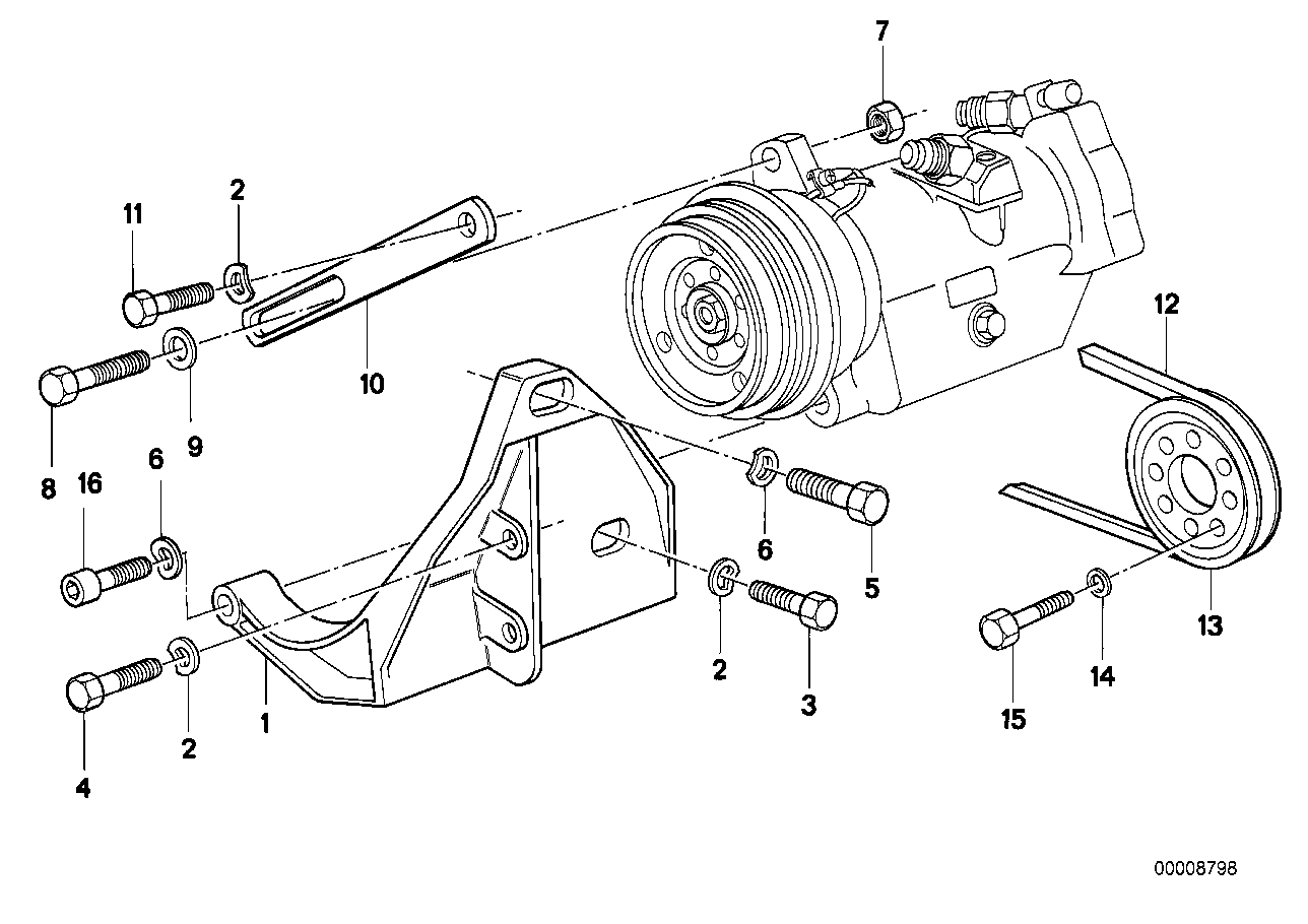 Attaching parts compressor