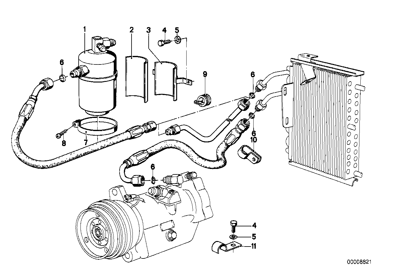 Air cond. system-drying container