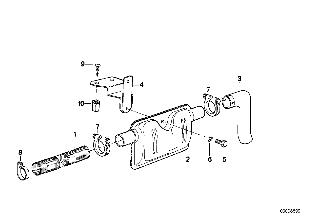 Exhaust pipe/muffler