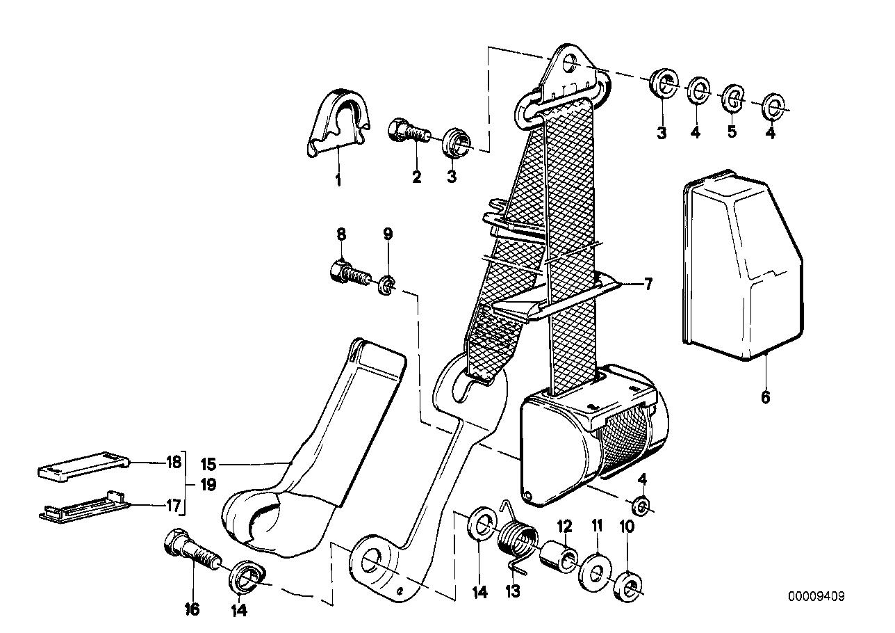 Toebehoren en Veiligheidssysteem BMW E21 sedan 47174