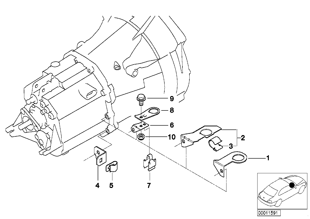 Manual Transmission BMW E36 sedan 47491