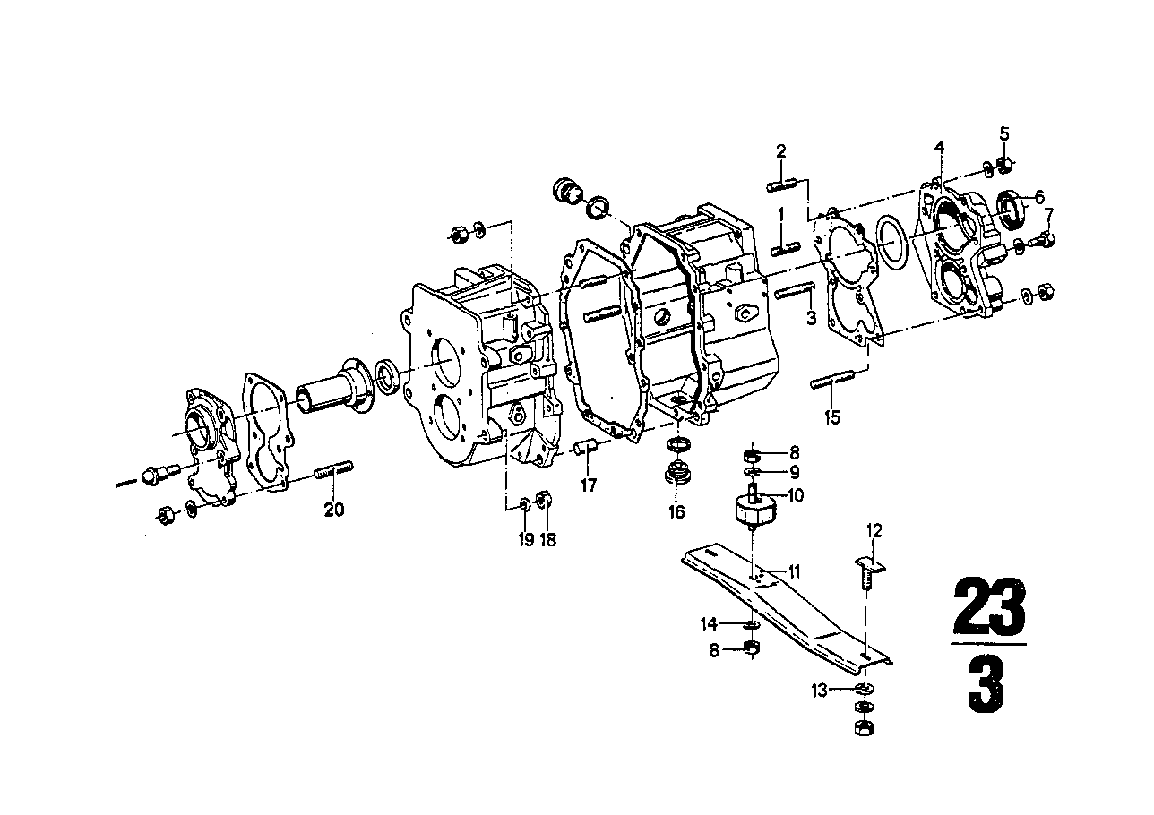 ZF s5-16 housing+attaching parts