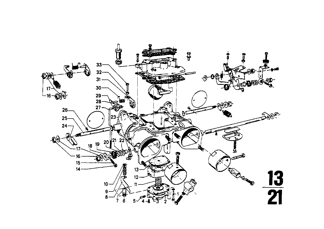Carburetor mounting parts