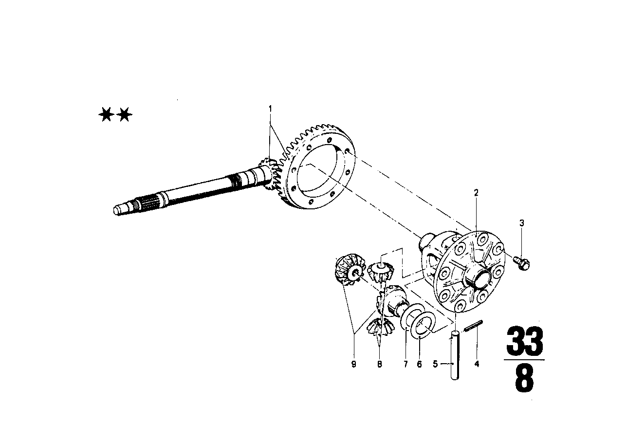 Differential-crown wheel inst.parts