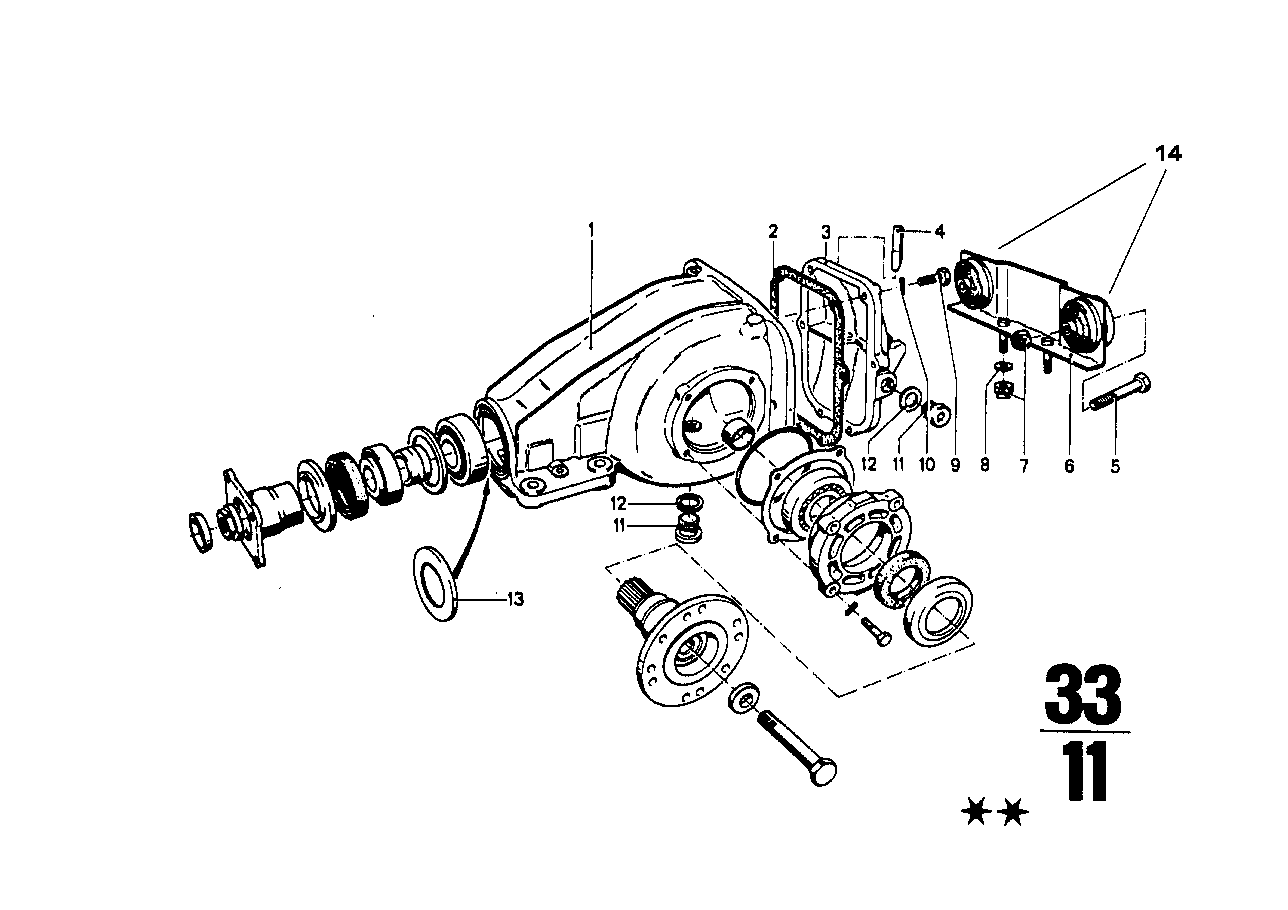 Differential-housing/housing cover