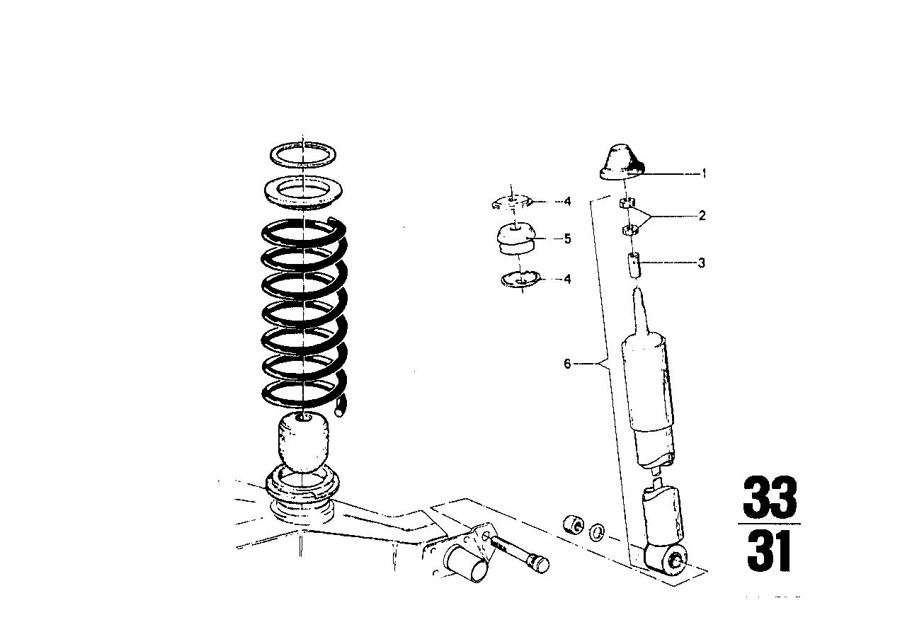 Shock absorber/coil spring/attach.parts