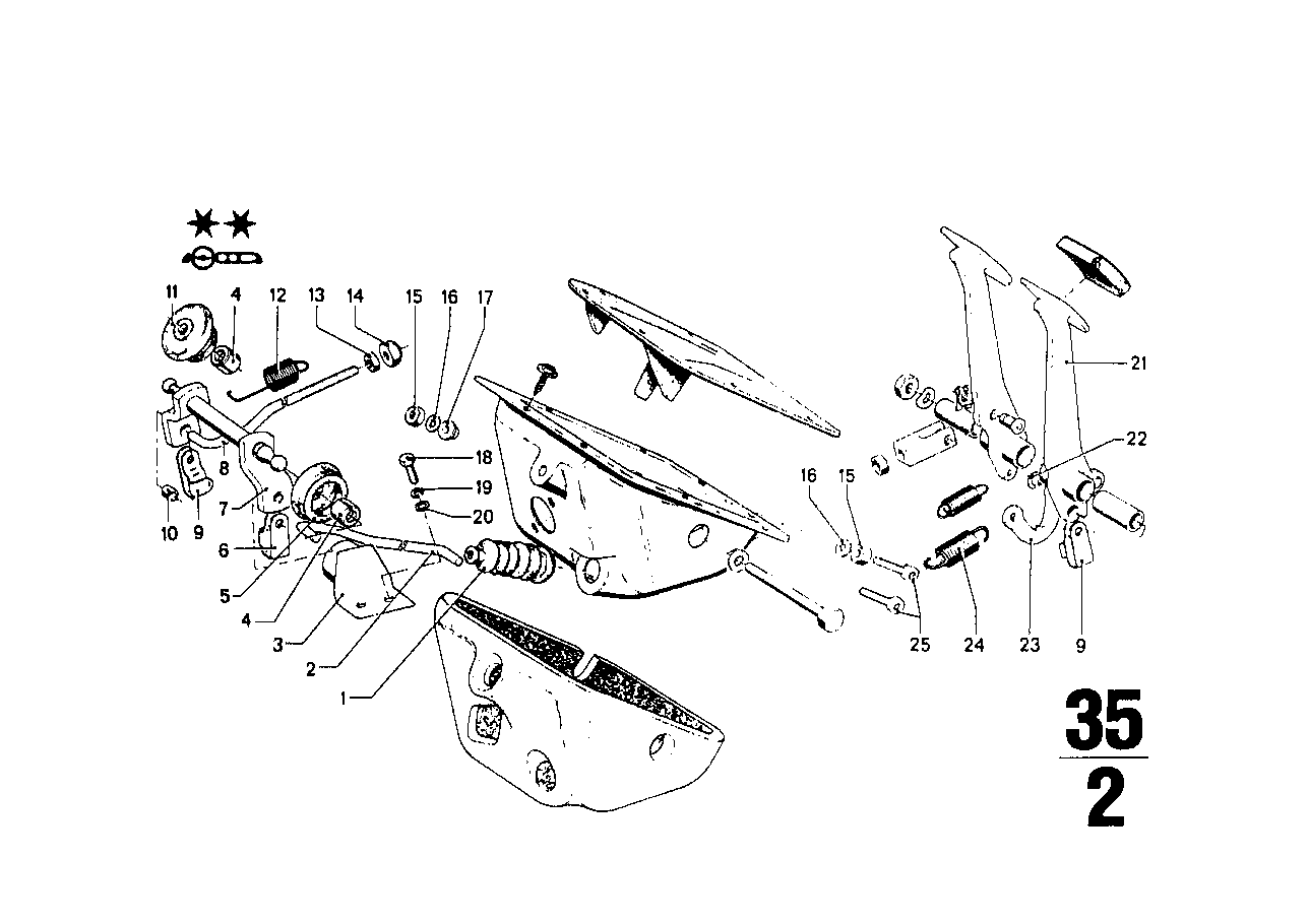 Pedals-supporting bracket/clutch pedal