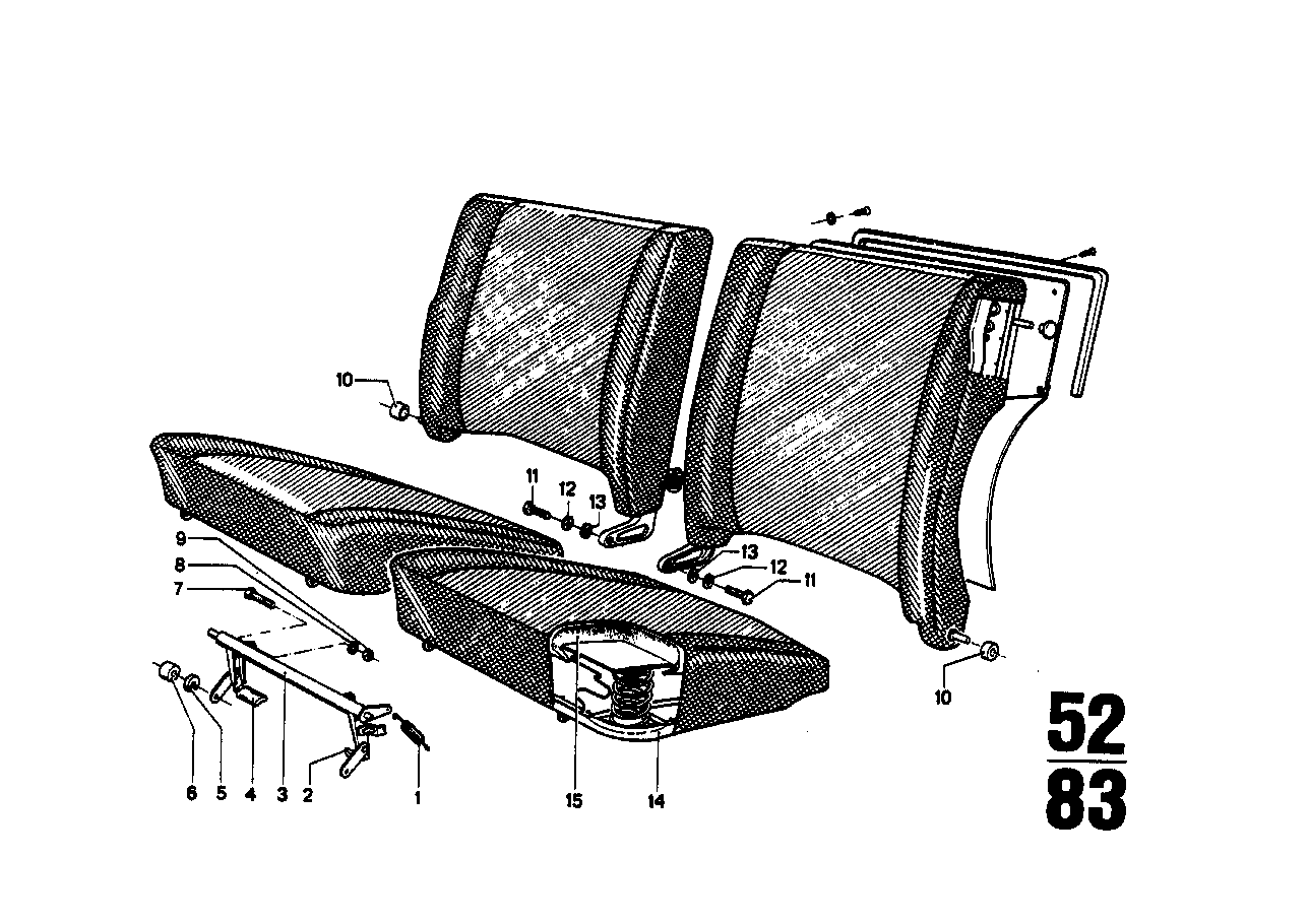 Fold-down rear backrest