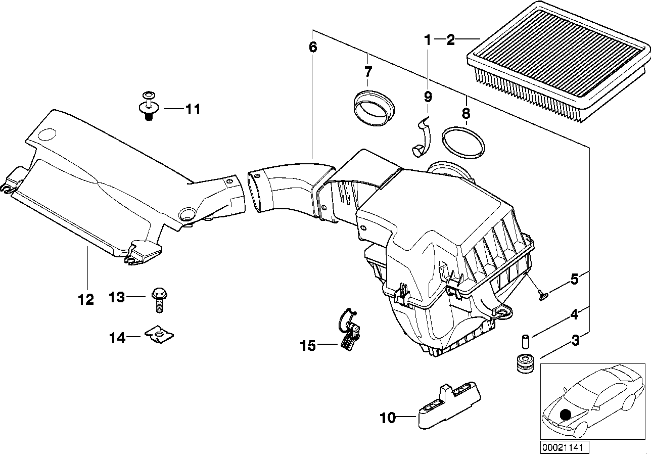 Fuel Preparation System BMW E46 sedan 47631