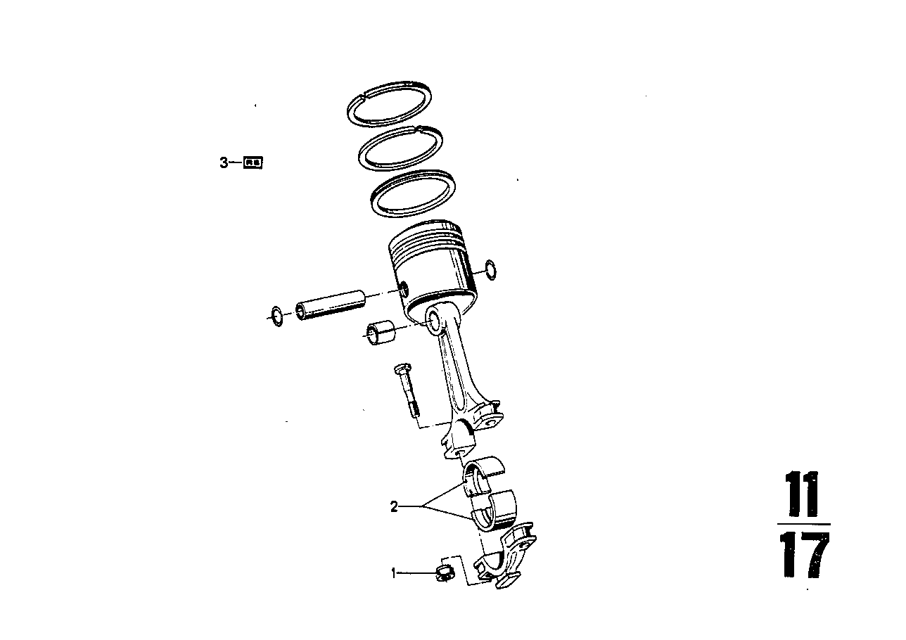 Connecting rod with bearing shell