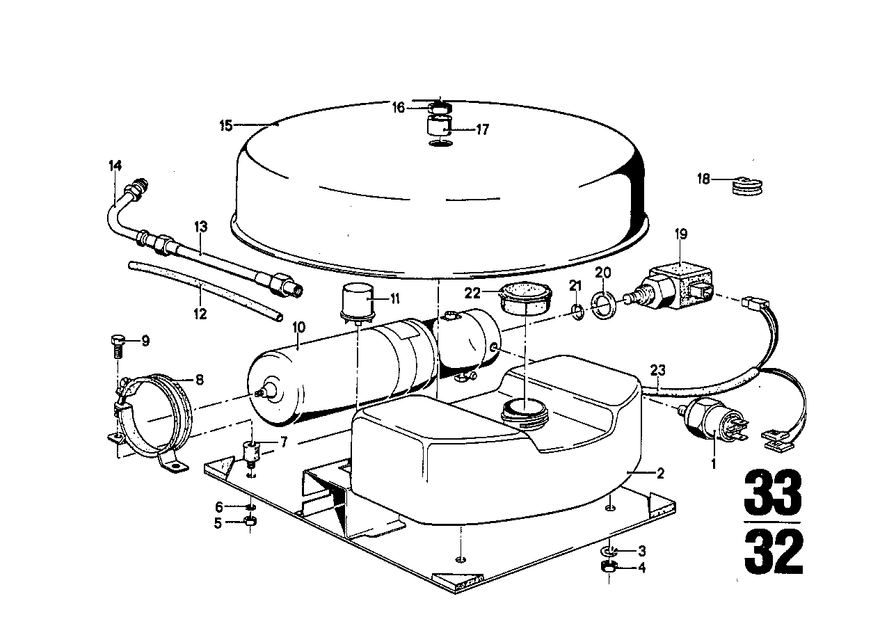 Levelling device/pump unit