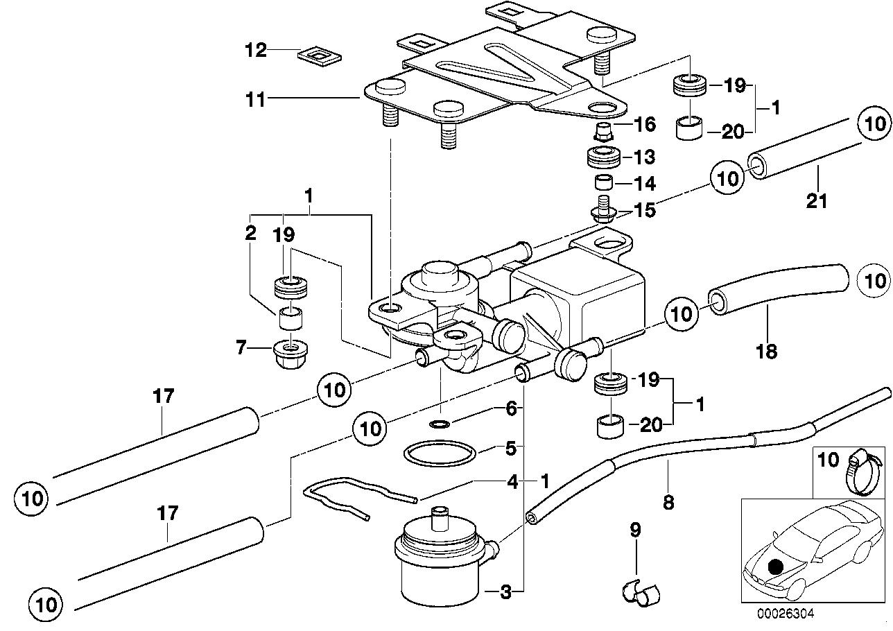 Fuel Preparation System BMW E46 sedan 47723