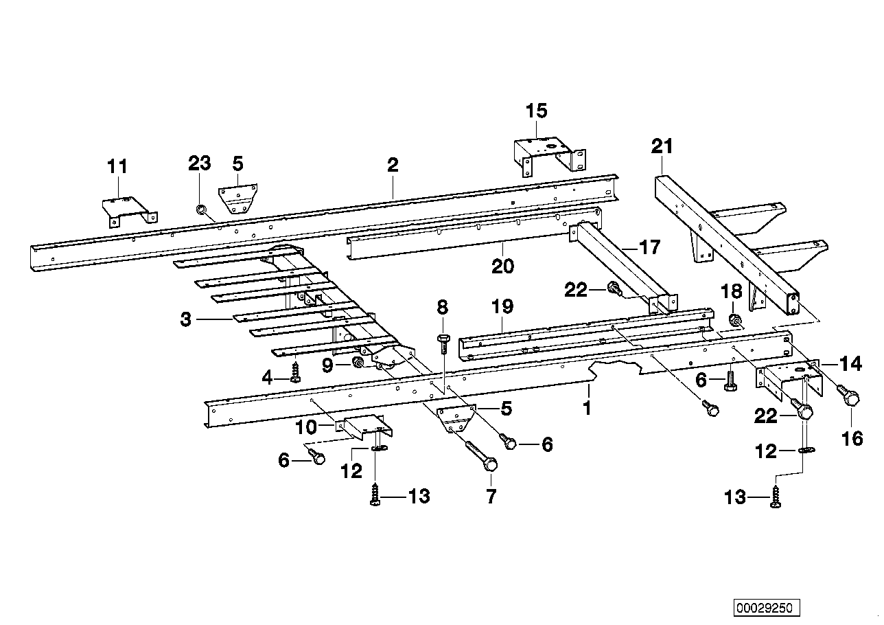 Trailer, individual parts, chassis frame