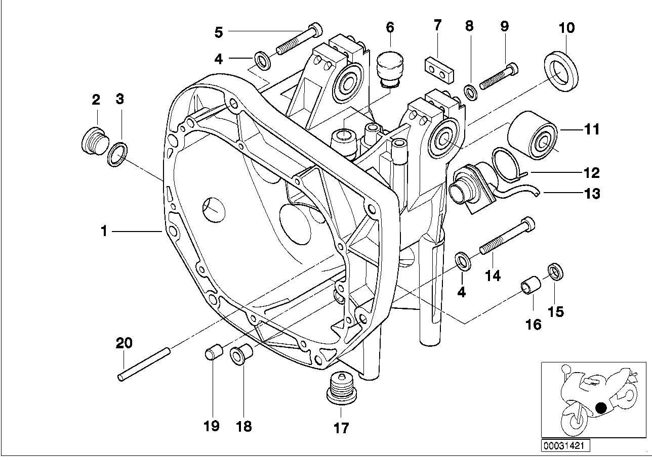 Manual gearbox BMW K41 without 51579