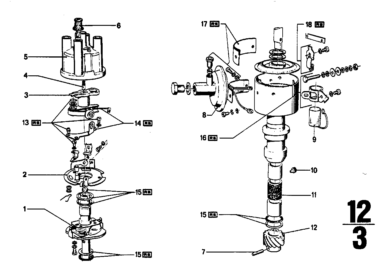 Distributor-single parts