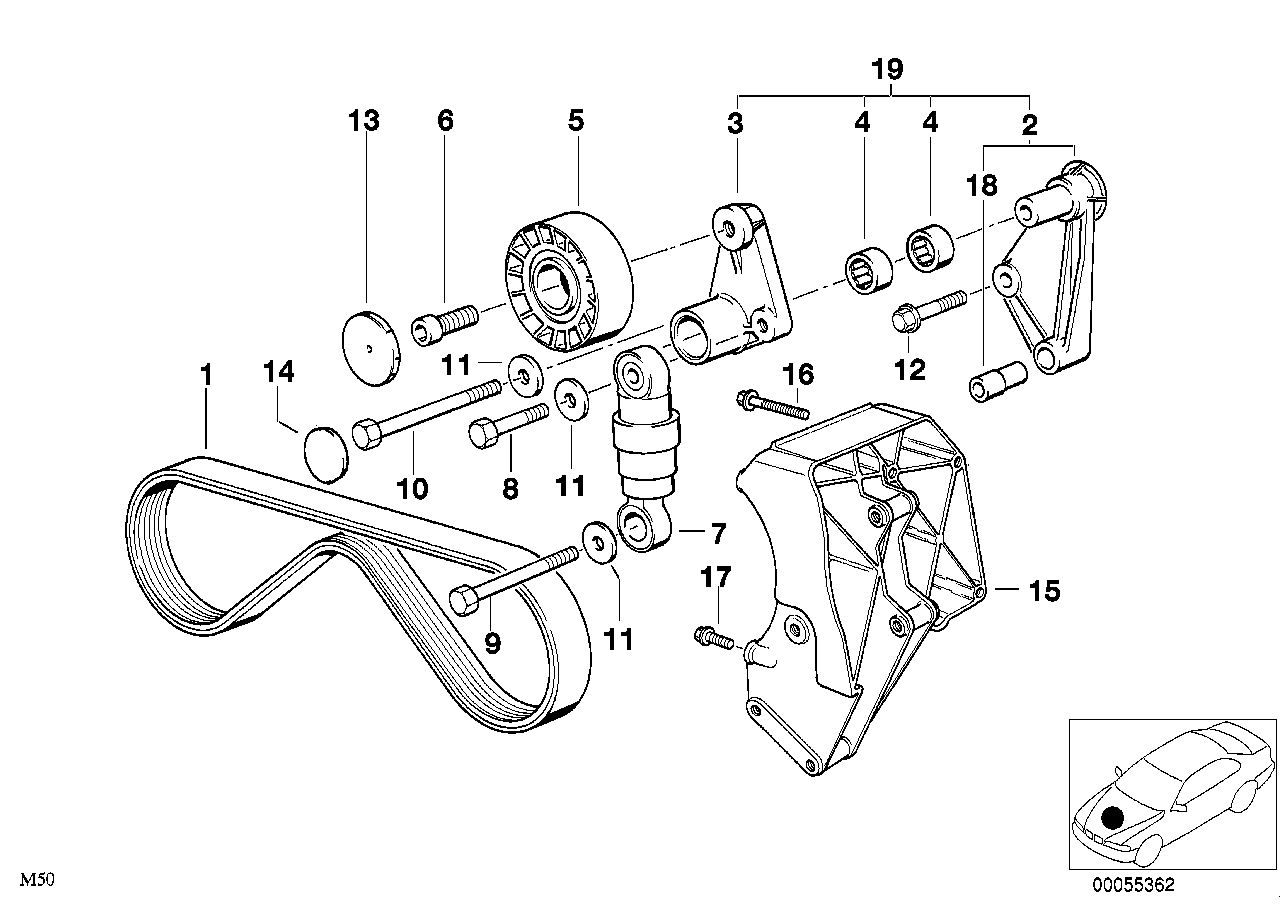 Air cond.compressor-supporting bracket