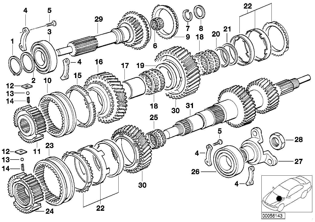 Manual Transmission BMW E36 sedan 47504