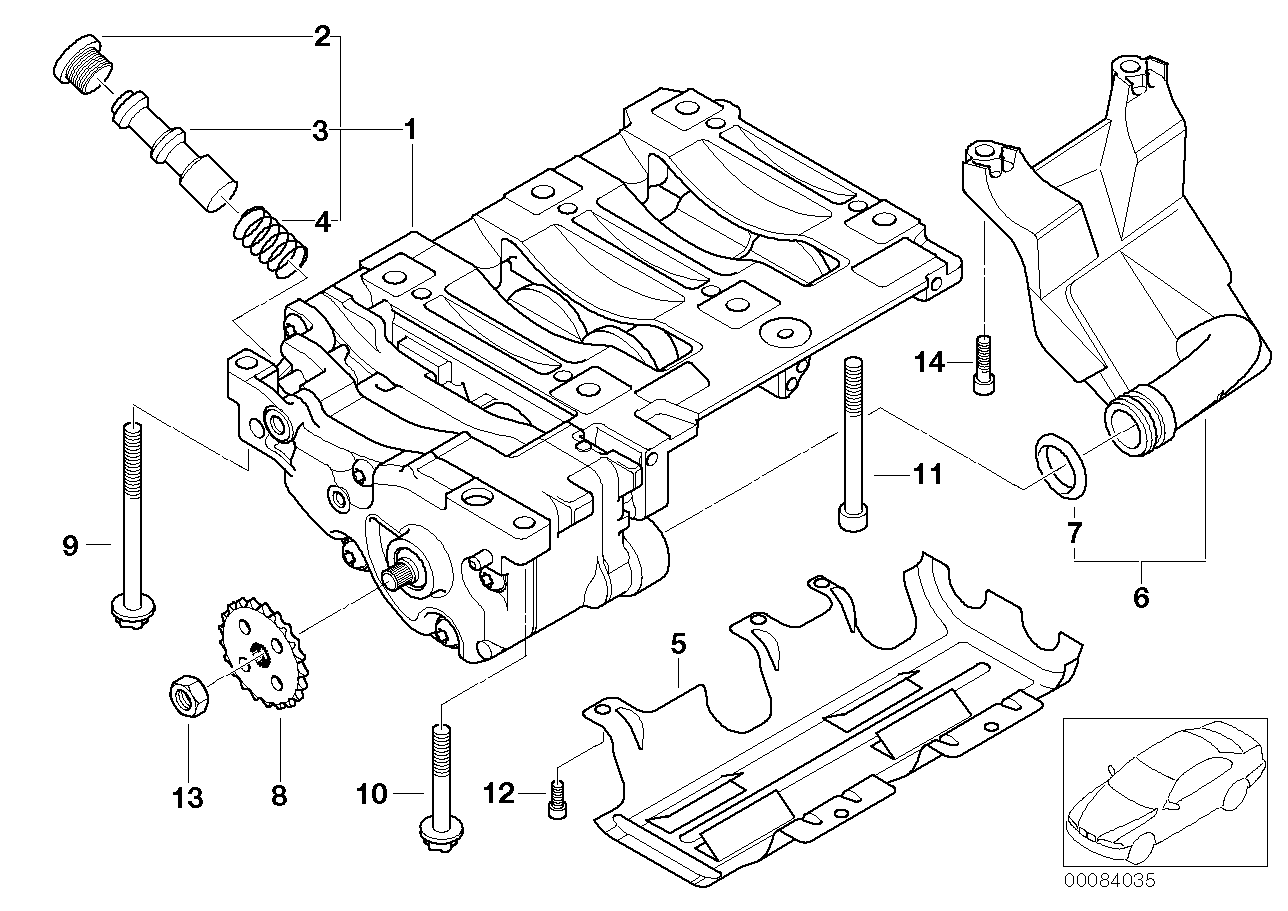 Oil pump and compensating shaft unit
