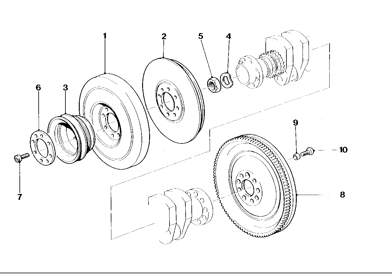 Crankshaft/flywheel