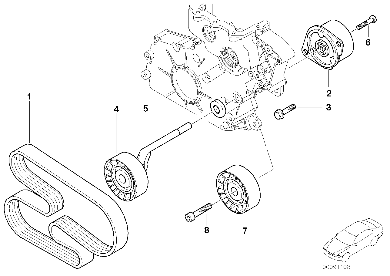 Belt Drive Water Pump/Alternator