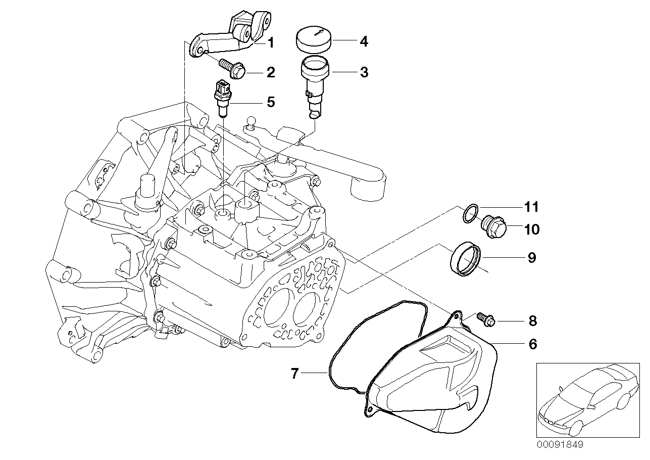Caixa de velocidades manual BMW R50 3-portas 58554