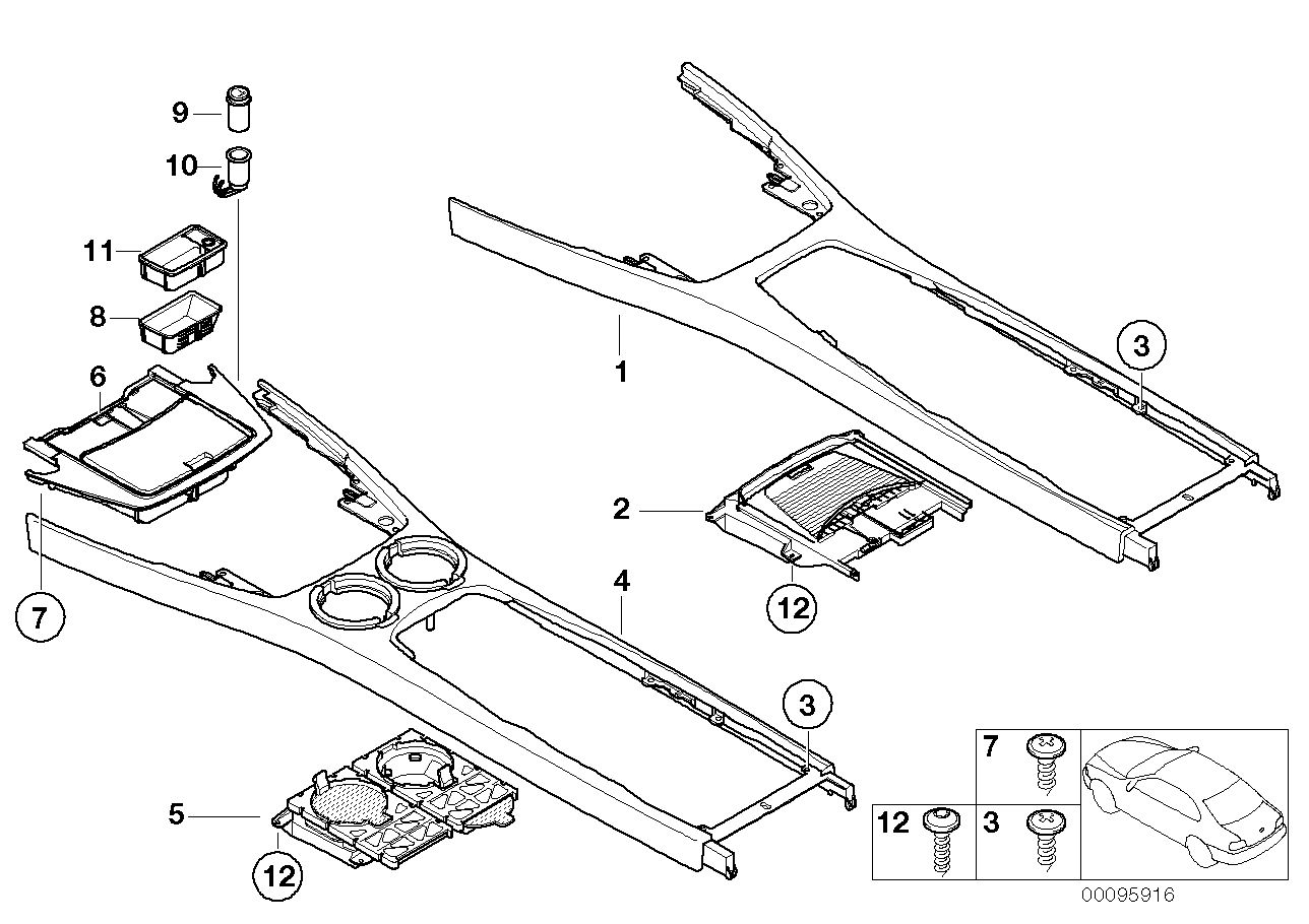 Mounting & attachm. parts f. 2nd battery