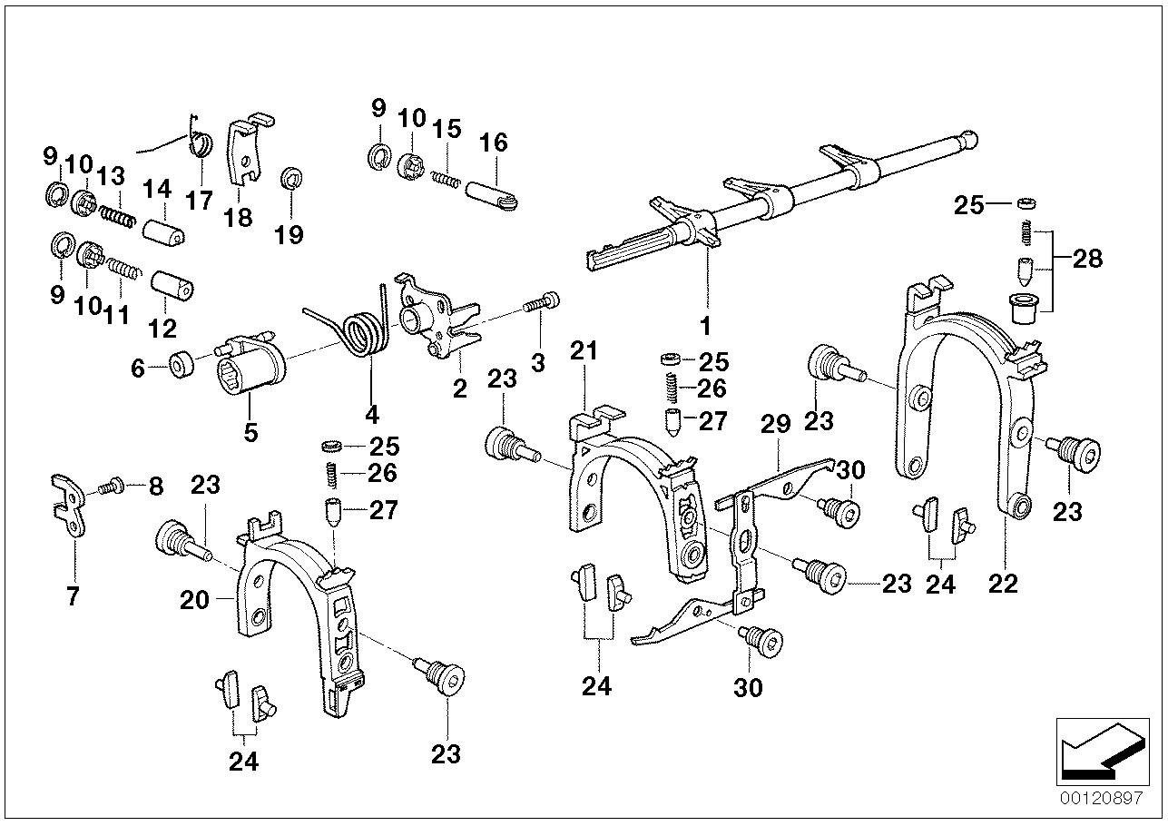 Manual Transmission BMW E36 sedan 47504