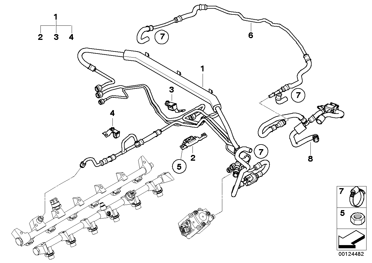 Fuel injection system - fuel line