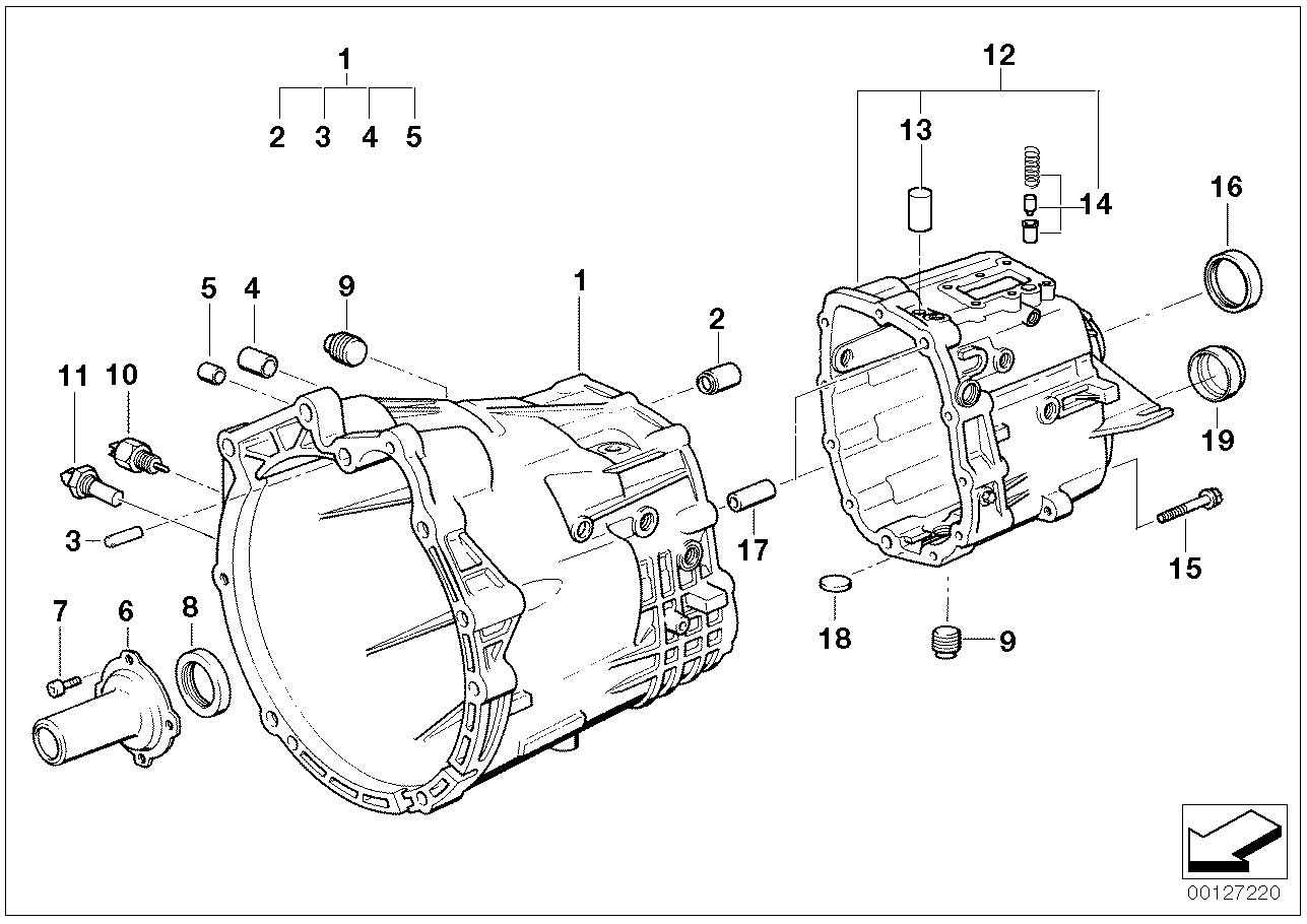 GS5S31BZ(SMG) Housing and mounting parts