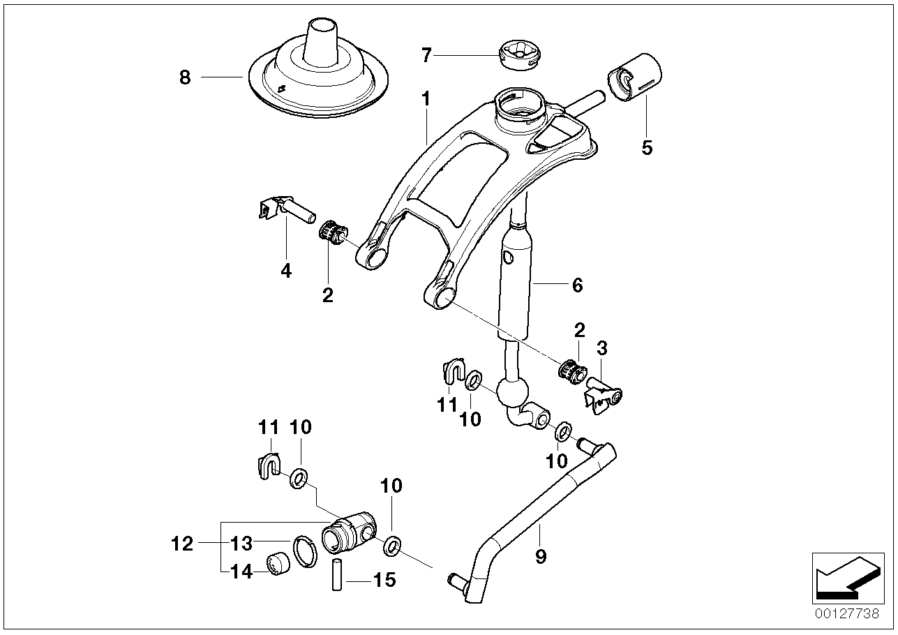 Gear shift parts,manual transm./4-wheel