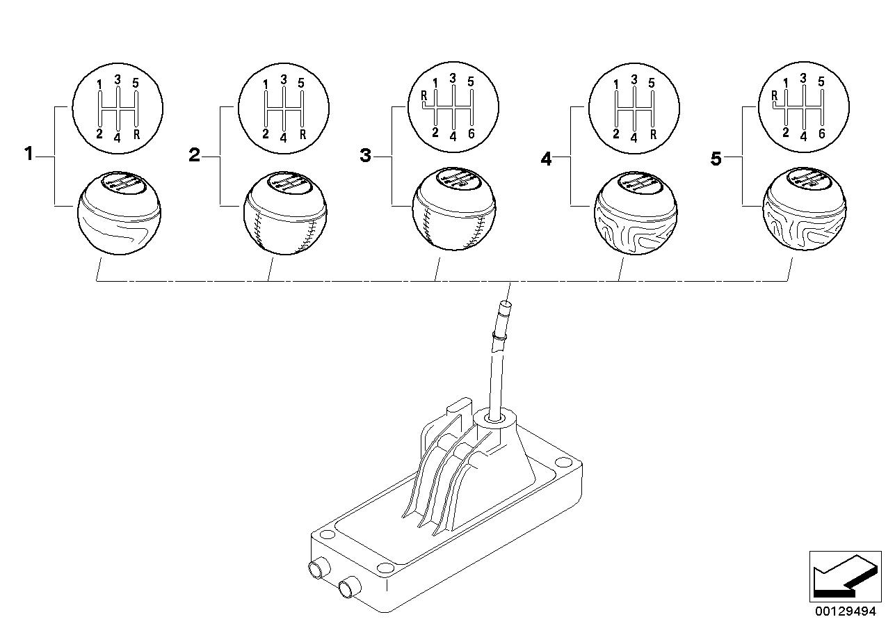 Mecanismo das mudanças BMW R50 3-portas 58557