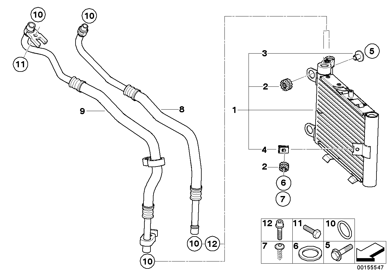 Radiator BMW E83N SAV 49511