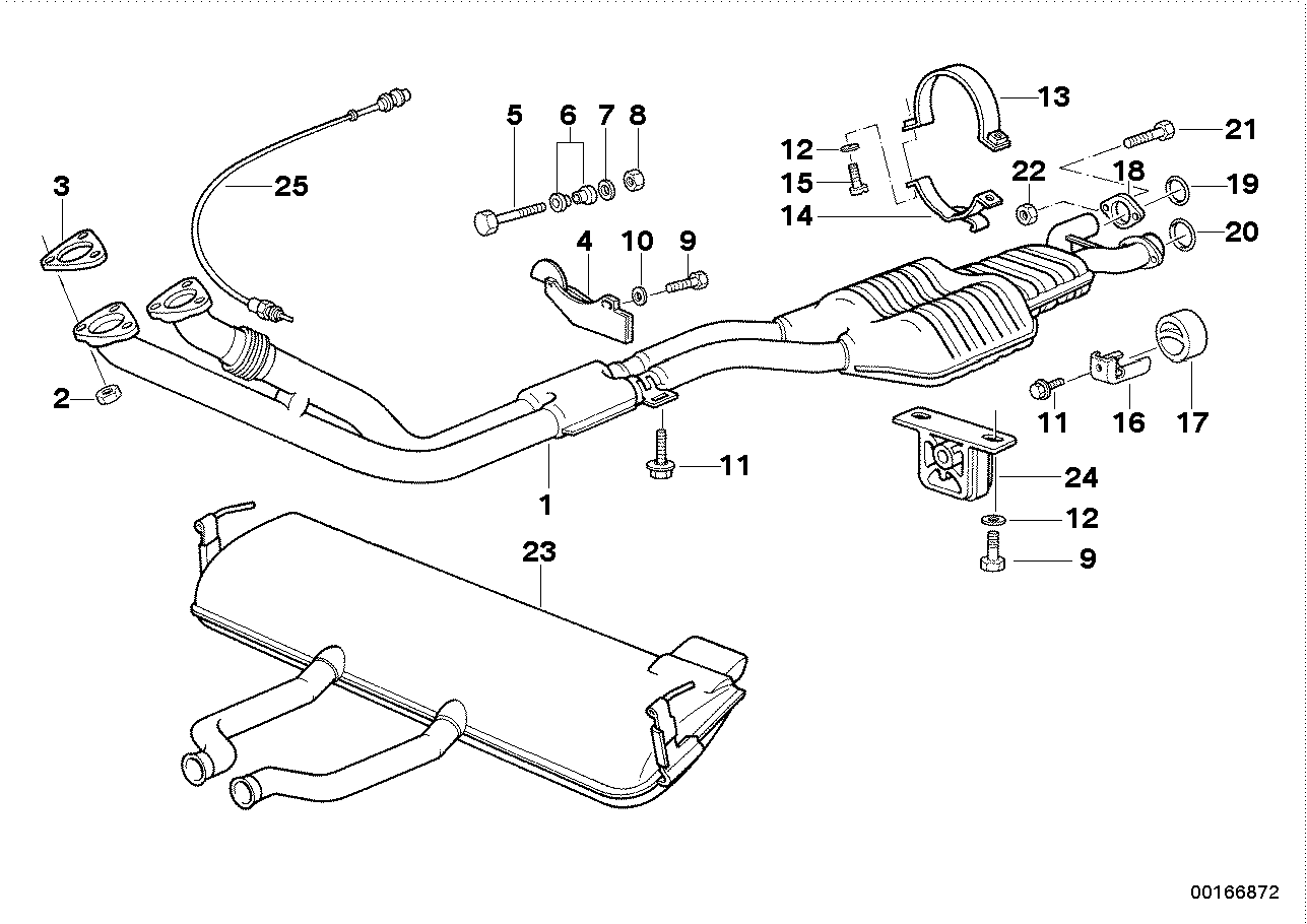 Exhaust system with catalytic converter