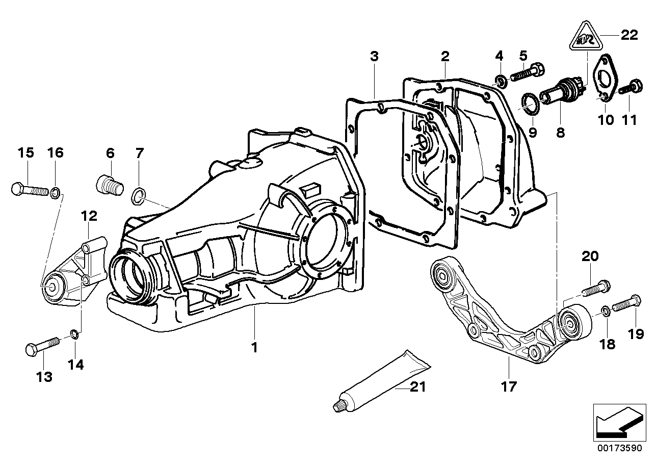 Final drive cover/trigger contact