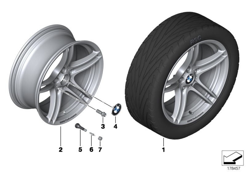 BMW Performance LA wheel, double sp. 313