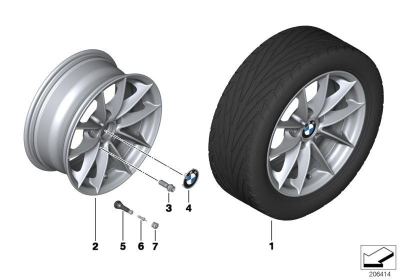 BMW LA wheel, V spoke 360