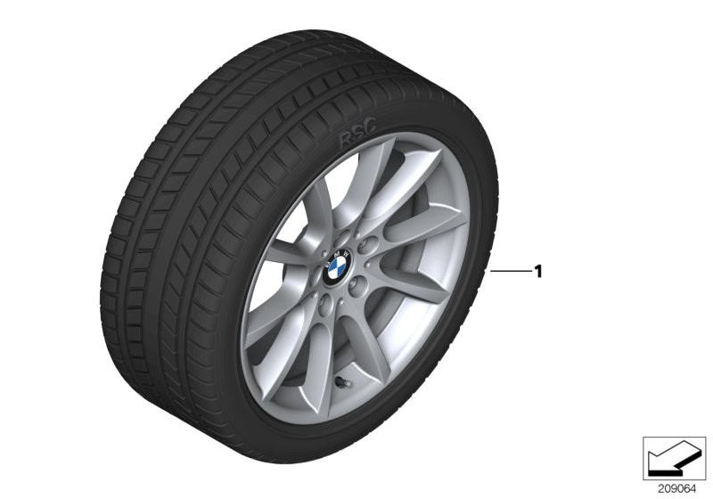 Winter wheel with tyre V-spoke 281 - 18