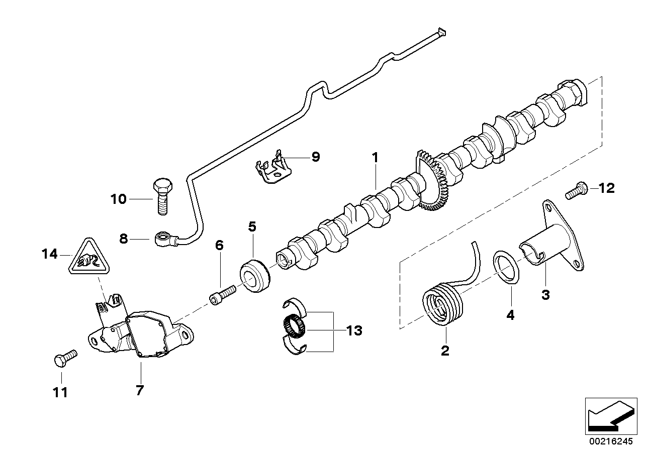 Valve timing gear, eccentric shaft