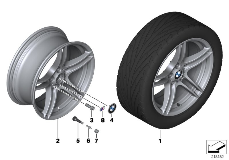 BMW LA wheel, M double spoke 313